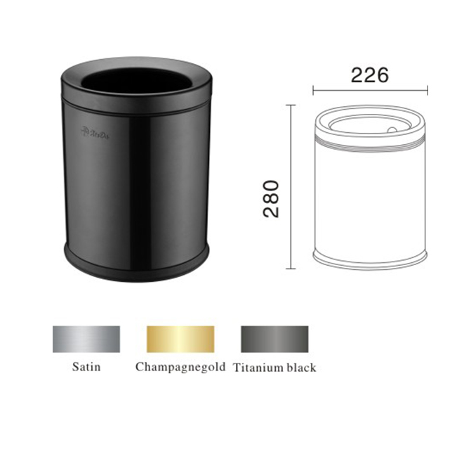 Small capacity trash can for bedroom