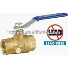 low lead threaded drain full port brass ball valves