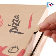 custom free folding pizza paper box shaped packaging box