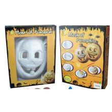 niños pintando bricolaje dibujando máscaras de calabaza de Halloween