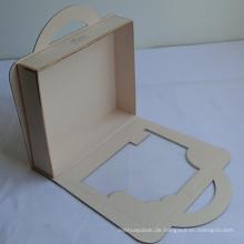 Elegante Ribbon Closure Hochzeitskleid Verpackung Box Custom Design Willkommen