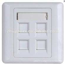 Китай поставщик 86 type 1 2 3 4 5 6 port 86 type rj45 cat5e cat6e гнездо стена лицевая панель