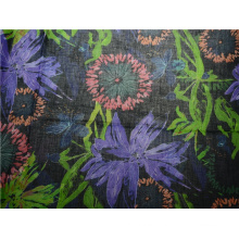 Good Quality Cotton and Ramie Material Printed Fabric (DSC-4172)