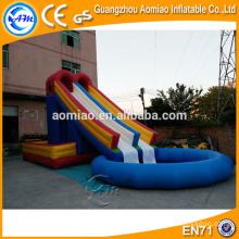 Vente chaude maison piscine toboggan / grand gonflable toboggan piscine / piscine toboggan gonflable à vendre