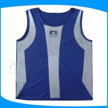 Veste de sécurité imperméable à l'eau bleu avec film appliqué à la chaleur, veste réfléchissante nathan pour homme sportif