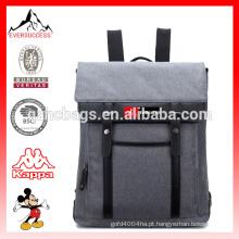 Venda quente Moda Preto Poliéster Laptop Bag Mochila