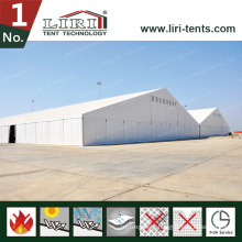 Huge Event Aluminum Tent with White Roof Covers and White Sidewalls