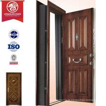 Fábrica Custom Panel Design Porta blindada, Steel Turkey Doors Exteriores Swing Doors, Moda Turkish Security Door