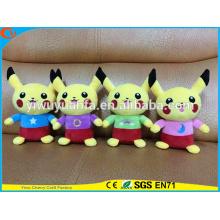 Hot Selling Novelty Design Stuffed Pokemon Go Pocket Monsters Plush Toy Cute Yellow Interstellar Pikachu