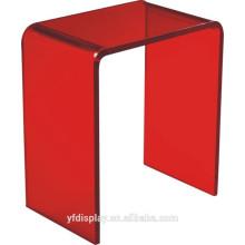 Roter Acryl Couchtisch