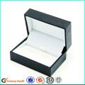 Emballage de boîte de papier de luxe noir boutons de manchette