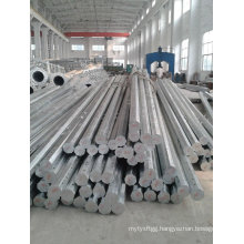 Hot DIP Galvanized Electricity Transmission Steel Poles