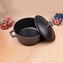 Pot de casserole émaillé en fonte noire original