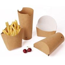 Impressão personalizada para viagem no atacado, caixa de papel para cachorro-quente biodegradável Bandeja de fast food