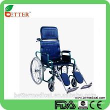 steel high backrest reclining elevating wheelchair