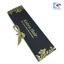caja de embalaje de extensión de pelo al por mayor con logotipo personalizado