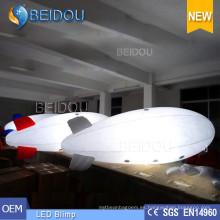 Globo iluminado del helio del aire LED que hace publicidad del dirigible aerotransportado inflable de RC