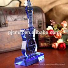 Кристалл буле стеклянные гитара музыкальный инструмент для домашнего декора и подарков.кристалл модель гитары