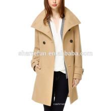 Фабрика подгоняет и оптовые корейский стиль 100% женщин шерсти пальто