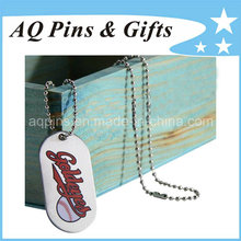 Metal Silver Tags with Printed Logo
