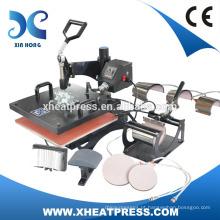 Factory Direct CE Aprovado 8-1 combo heat press machine HP8IN1