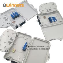 Caixa plástica da terminação da fibra óptica de 6 núcleos