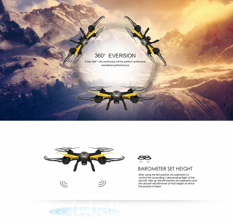 Drone with LCD Screen