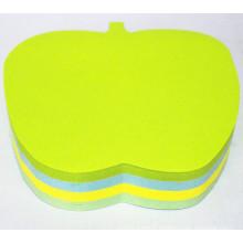 Notes collantes de haute qualité découpées en forme de pomme Dh-1202