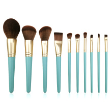 10pc gagang kayu Set Kuas Makeup