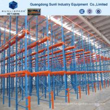 Sistema de almacenamiento industrial 2t Potente rack de dirección