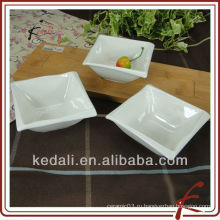 Новый оптовый белый керамический фарфор ужин набор соуса с бамбуком