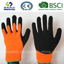 Gants de travail de sécurité en couche de nitrile, de sable fin (SL-NS120)