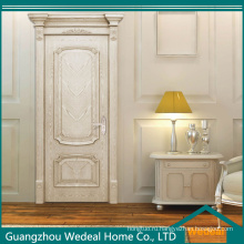 Белый Дуб деревянный Шпонированный МДФ композитные межкомнатные двери