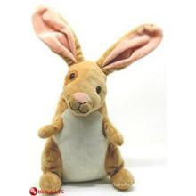 EN71&ASTM standard brown velveteen rabbit plush toy