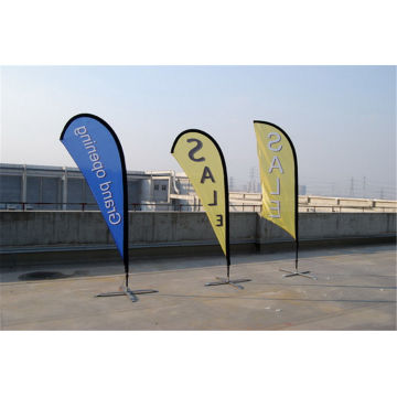 Stickad Fabric Custom Teardrop Flag Banner