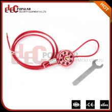 Elecpopular High Demand Products Reusable Safety Wheel Type Cable Lockouts For Securing Valves