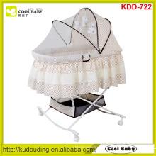 NOVO design atacado Baby Bassinet portáteis borboleta mosquito net cobrir grande cesta de armazenamento Rocking Cradle criança produto