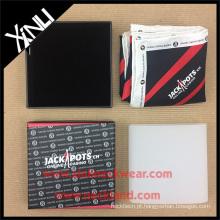 Empacotamento feito à mão do quadrado do bolso da caixa de presente da impressão da tela 4C