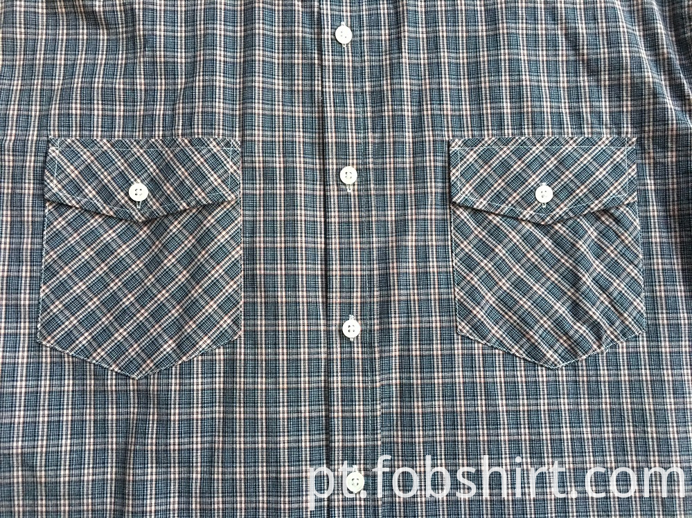 Men Two Chest Pocket Shirts