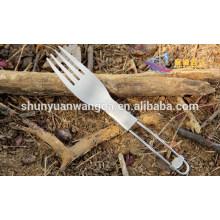 Popular Titanium Folding Fork, forquilha de titânio ao ar livre, garfo de mesa de titânio
