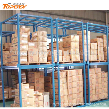 Heavy duty movable steel stacking rack for warehouse storage