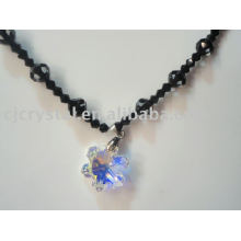 2015 fashion hot selling crystal bead pendant necklace