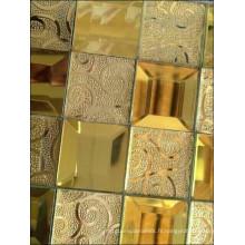 Mosaïque à miroir en diamant Mosaïque en or (HD065)