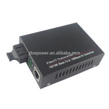 10 / 100M Single Fiber 1310 / 1550nm 80-мегапиксельный конвертер PoE, 10 / 100Base-T (X) - 100Base-FX Fast Ethernet POE-конвертер
