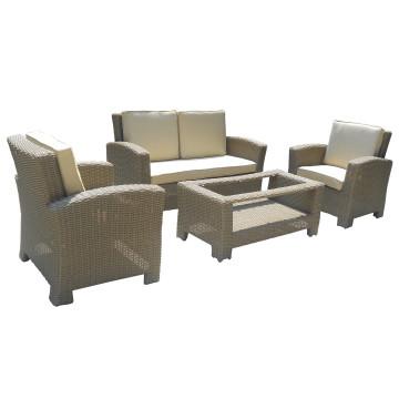 Ensemble de Sofa en osier jardin Patio salon en plein air meubles
