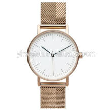 Stainless steel mesh strap japan movt quartz watches quartz for man and woman