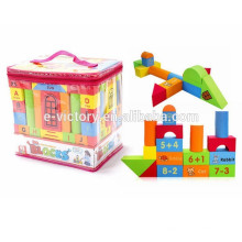 74 pcs DIY Building Block EVA espuma bloco de construção crianças blocos de construção
