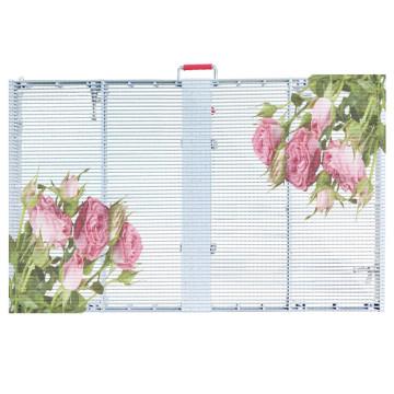 Полу-открытый прозрачный светодиодный носитель со стеклянной стеной
