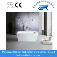 Acrylic rectangular white bathtub