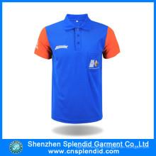 Billige benutzerdefinierte Farbkombination Pique Cotton Polo-Shirt